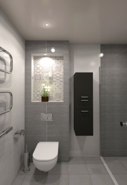 Holiday Appartment in Varna Design Project: Bathroom