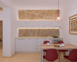 Holiday Appartment in Varna Design Project: Kitchen