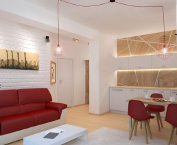 Holiday Appartment in Varna Design Project: Living Room