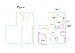 Holiday Appartment in Varna Design Project: Before & After_ Distribution Plan