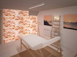 8th sense Beauty Salon Interior Design Project_ Massage Zone