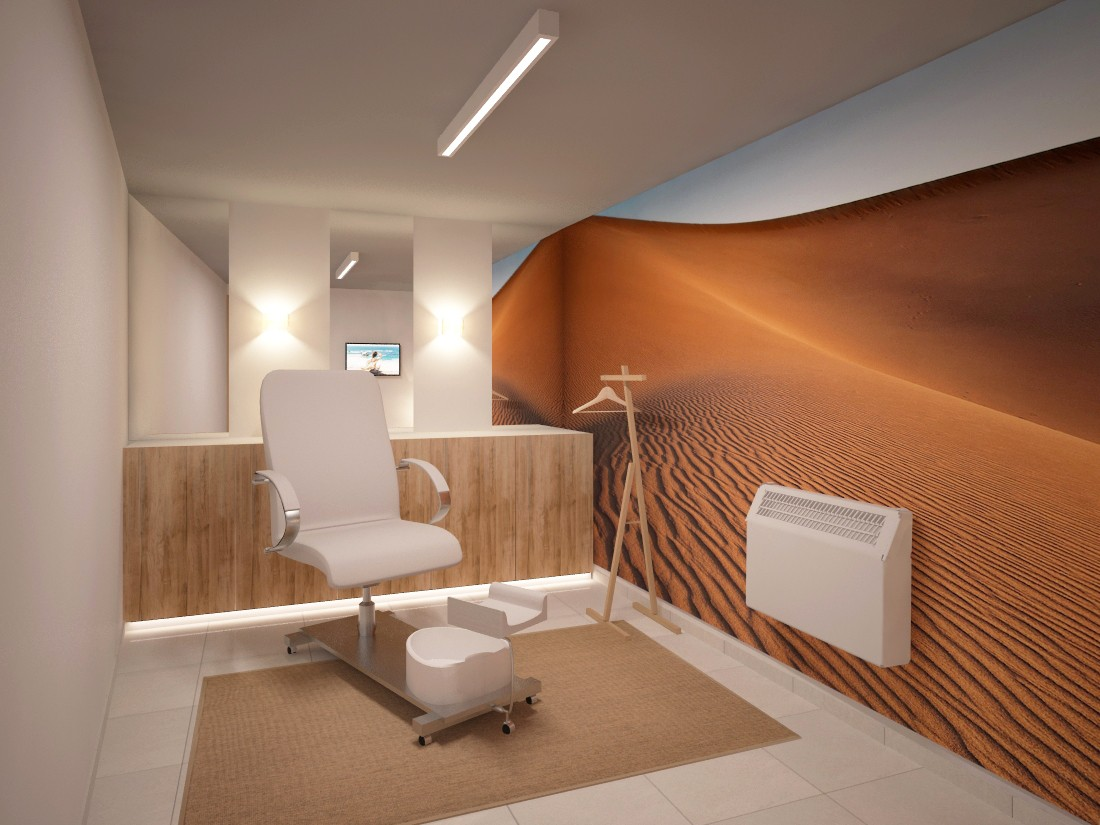 8th Sense Beauty Salon Interior Design Project Pedicure Zone