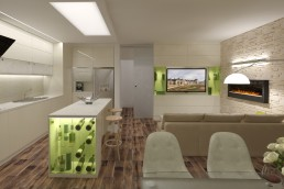 Living/Dining/Kitchen Combo