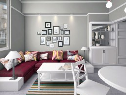 Vintage Apartment Interior Project: The Living Room