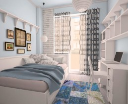 Vintage Apartment Interior Project: Kid's Room