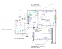 Vintage Apartment Interior Project: Distribution Plan