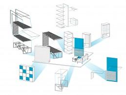 Designer's Office Interior Project: Axonometric Furniture
