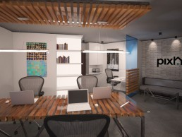 Designer's Office Interior Project: Boss' Desk & Main Desk