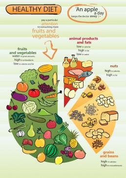 Infographics Design: Healthy Diet