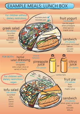 Infographics Design: Example Meals, Lunch Box