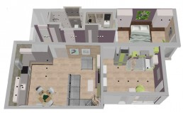 Apartment in Varna Interior Project: 3D Distribution Plan