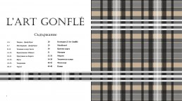 Spread of 'L'art gonflé' Portfolio Book