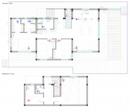 Trakata Interior and Exterior Project: Ventilation and Heating Installations Scheme
