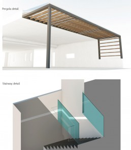 Trakata Interior and Exterior Project: Pergola & Stairway Detail