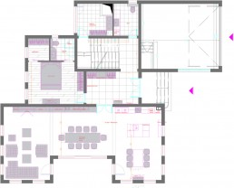 House in Suvorovo Interior Design Project: Distribution Plan, First Floor