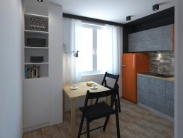 Appartment in Veliko Tarnovo Interior Design Project: Entering the Kitchen