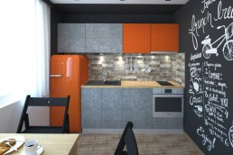 Appartment in Veliko Tarnovo Interior Design Project: Kitchen