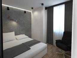 Appartment in Veliko Tarnovo Interior Design Project: Bedroom