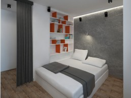 Appartment in Veliko Tarnovo Interior Design Project: Bedroom
