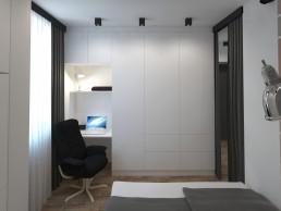 Appartment in Veliko Tarnovo Interior Design Project: Bedroom Storage Space