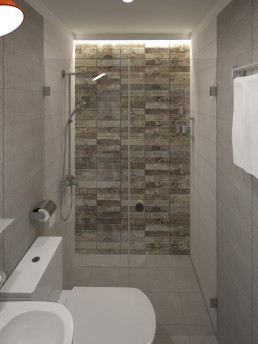 Appartment in Veliko Tarnovo Interior Design Project: Entering the Bathroom