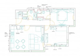 Apartment in Varna Interior Project: Distribution Plan