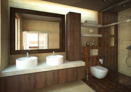 House in Suvorovo Interior Design Project: Master Bathroom
