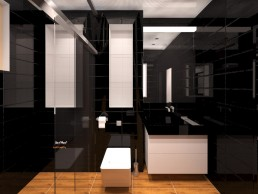 House in Suvorovo Interior Design Project: Son's Bathroom