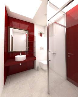 House in Suvorovo Interior Design Project: The Bathroom 1st Floor