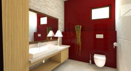 House in Suvorovo Interior Design Project: WC 1st Floor