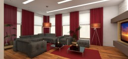 House in Suvorovo Interior Design Project: The Living Room