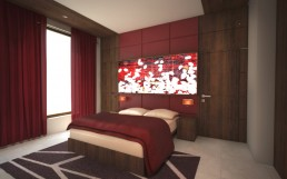 House in Suvorovo Interior Design Project: The Guest Bedroom
