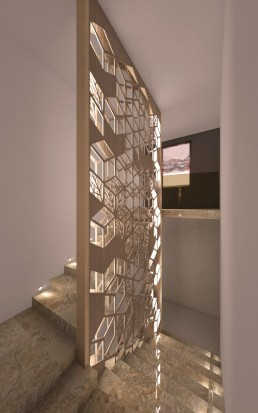 House in Suvorovo Interior Design Project: The Stairway