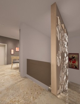 House in Suvorovo Interior Design Project: Arriving on Second Floor