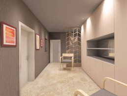 House in Suvorovo Interior Design Project: Second Floor's Corridor