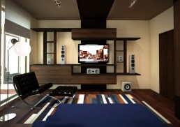 House in Suvorovo Interior Design Project: Son's Bedroom