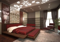 House in Suvorovo Interior Design Project: Master Bedroom