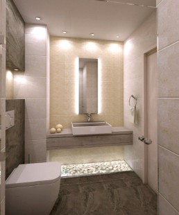 Apartment in Varna Interior Project: The 1st Bathroom
