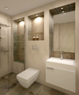Apartment in Varna Interior Project: The 2nd Bathroom
