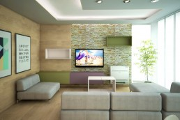 Apartment in Varna Interior Project: The Living Room