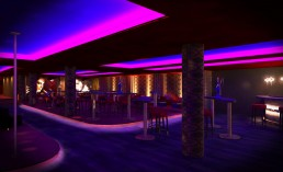 Night Club Interior Project: Entering from Outside