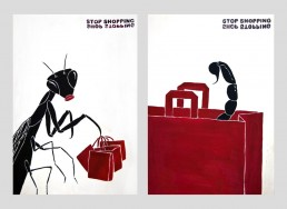 Stop Shopping – Hand Painted Poster Series