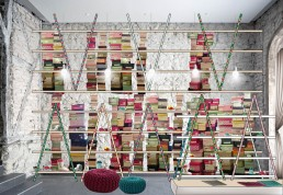 Childrens' Shoes Shop Design: Shelve on the Right