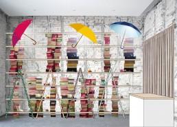 Childrens' Shoes Shop Design: Shelves on the Left