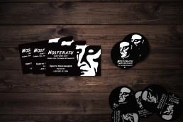 Nosferatu Craft Beer Shop_ Branding Design – Business Card & Sticker