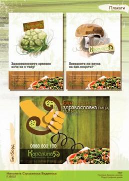 Karolina Healthy Pizzeria Total Design Project: Poster & Billboard Design