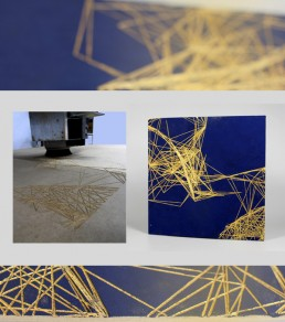 Digital Fabrication 2D Art: MDF cut in Router, 50/50 cm