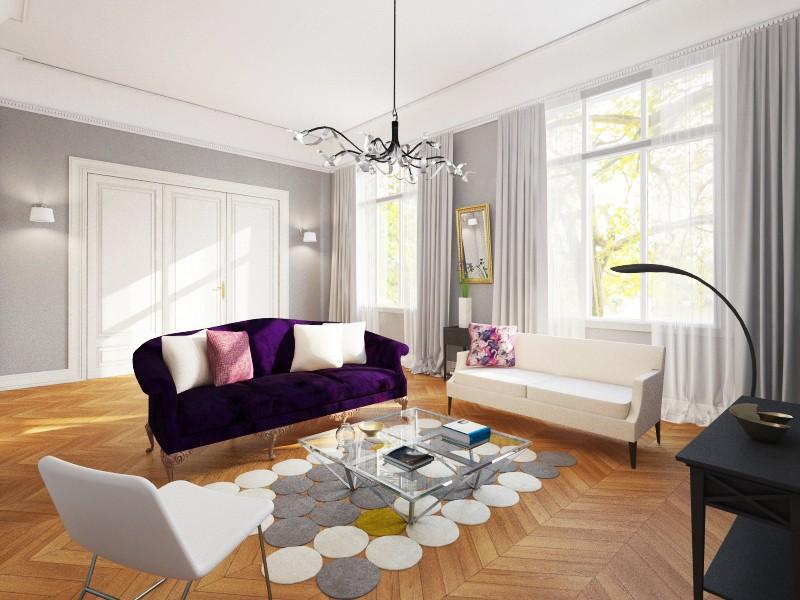 Virtual staging for aristocratic living room nikoleta - Virtual living room design ...