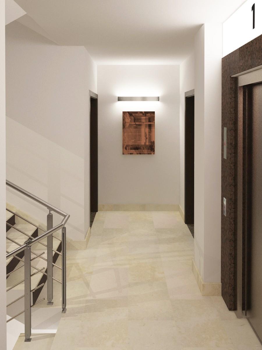 alex residential buildings lobby stairways interior design project nikoleta vidinova
